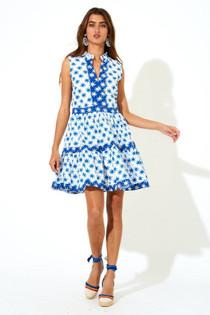 Oliphant Yoke Dress, Virgo Blue