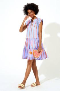 Oliphant Roll Sleeve Dress, Mali Blue