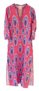 Nimo with Love Sapphire Kaftan, Ikat Pink & Blue
