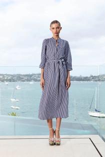 Lola Dray Shirtdress, Navy Stripe