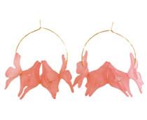Holst & Lee Floral Hoop, Flamingo