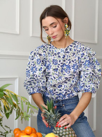 Mille Lila Top, Blue Tiger Lily