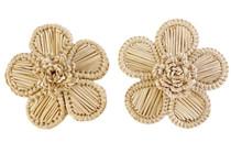 Victoria Dunn Periwinkle Flower Earrings