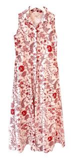 Livro Sleeveless Shirtdress, Persimmon Bouquet