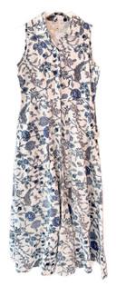 Livro Sleeveless Shirtdress, Blue Bouquet