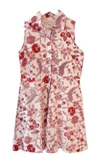 Livro Mini Sleeveless Shirtdress, Persimmon Bouquet