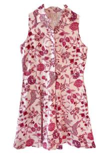 Livro Mini Sleeveless Shirtdress, Pink Bouquet