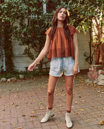 The Great Eyelet Dale Top, Rust