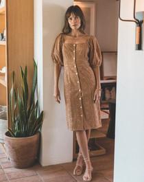 Cleobella Demi Midi Dress, Wheat