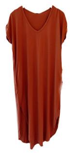 Bobi Tee Maxi Dress, Redwood