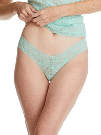 Hanky Panky Low Rise Thong - Mint Sprig