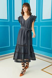 Marie Oliver Juliet Midi Dress, Ink Blue