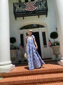Sue Sartor Annabel Sun Dress, Sapphire Blue Beach Iris