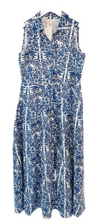 Livro Sleeveless Shirtdress, Blue Graden