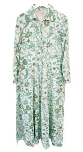 Livro Classic Shirtdress, Teal Garden Vines