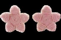 Grace Holiday Sea Star Earrings, Rose Quartz