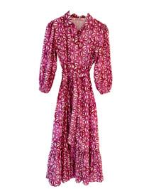 Ro's Garden Maxima Shirt Dress, Purple Petra