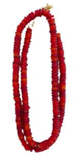 Trade Beads, Matte Cranberry