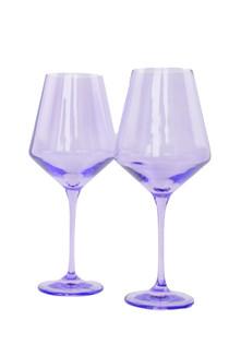 Estelle Colored Stemware Set of 2, Lavender