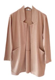 Jade Open Coat, Camel