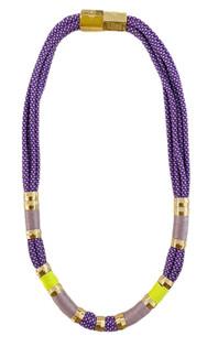 Holst & Lee Purple Colorblock Necklace