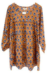 Grace Holiday Rosie Long Sleeve Dress, Terracotta Dandelions