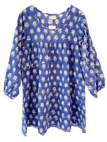 Grace Holiday Rosie Long Sleeve Dress, Indigo Dandelions