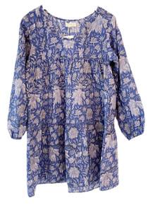 Grace Holiday Rosie Long Sleeve Dress, Autumn Blue Garden