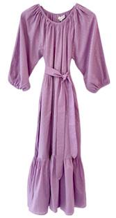 Emerson Fry Clemence Maxi Dress, Lavendula Gold Dot Lurex