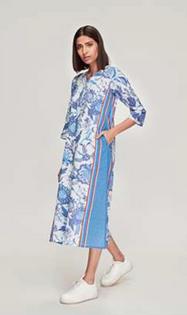 Ro's Garden Donatella Kurta Dress, Tiffany Blue