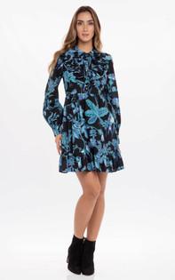 Banjanan Liberty Dress, Hedgerow Black