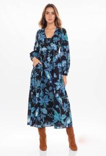 Banjanan Melany Dress, Hedgerow Black