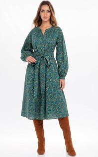 Banjanan Olympia Dress, Hedgehog Dark Denim