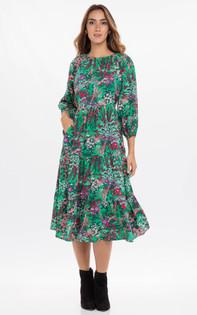 Banjanan Autumn Dress, Mint Green
