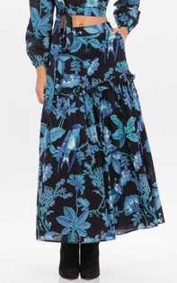 Banjanan Piper Skirt, Hedgerow Black