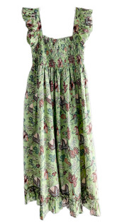 Grace Holiday Olivia Dress, Green Apple Chintz