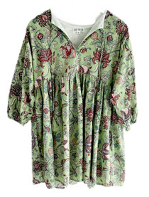 Grace Holiday Sully Dress, Green Apple Chintz
