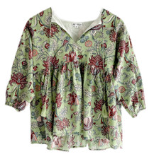 Grace Holiday Sully Top, Green Apple Chintz