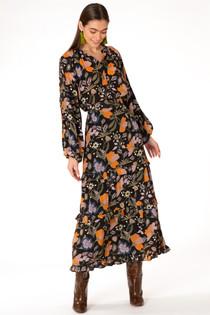 Olivia James Lindsay Skirt, Black Fall Floral