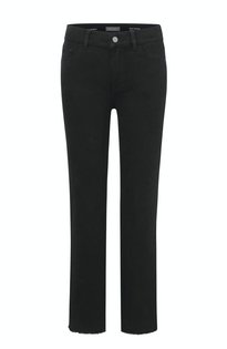 DL1961 Mara Straight Jeans, Black Peached Raw