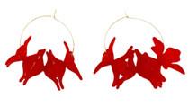 Holst & Lee Floral Hoop, Red