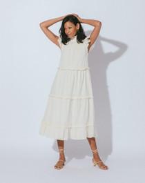 Cleobella Linda Midi Dress, Cream