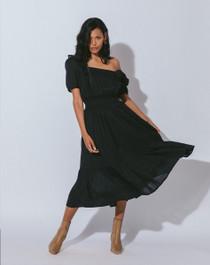 Cleobella Shanya Midi Dress, Black