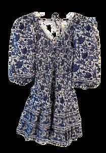 Love The Label Smocked Mini Dress, Mabel Blue