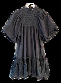 Love The Label Smocked High Neck Dress, Metal