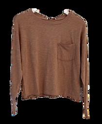 Bobi Long Sleeve Cropped Top, Java