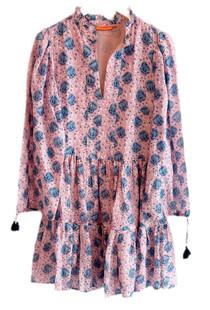 Oliphant Long Sleeve Yoke Dress, Versailles Petal