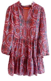 Oliphant Yoke Dress Long Sleeve, Monaco Rose