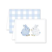 Dogwood Hill Porcelain Bunnies Boxed Set, Blue