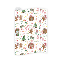 Dogwood Hill Gingerbread Village Wrapping Paper Roll